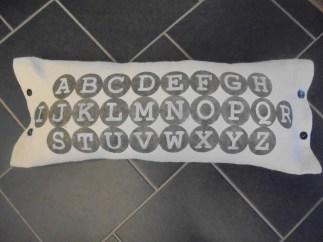 pillow -- typewriter font