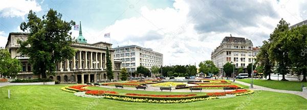 Panoramic sightseeing of Belgrade