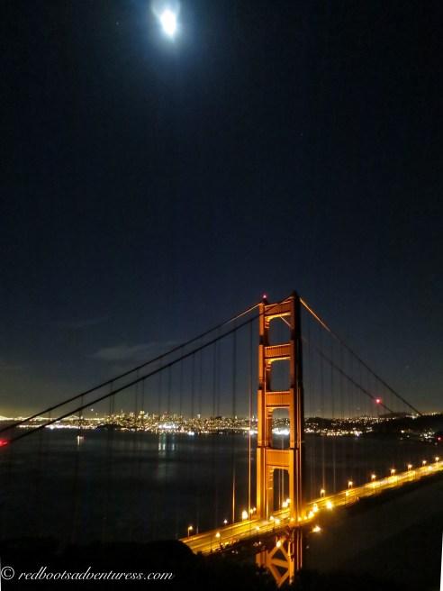 Moon over two bridges
