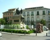 Square in Granada with Petunia planter