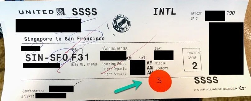 SSSS on Boarding Pass After Security Scan Completion