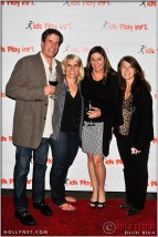 Jeff Bonafede, Olympian Tracy Evans, Kathy Knoll and Guest at Kids Play International's 4th Annual Cocktails For A Cause