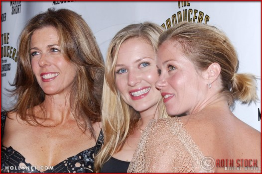 Rita Wilson, Jessica Capshaw and Christina Applegate attend opening night of The Producers