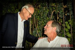 Olympians Jeff Farrell (L) and John Naber