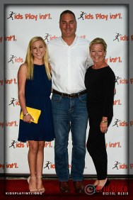 (L-R) Jenny Oliver, Mark Koesterer and guest attend the 6th Annual Cocktails to Benefit Kids Play International