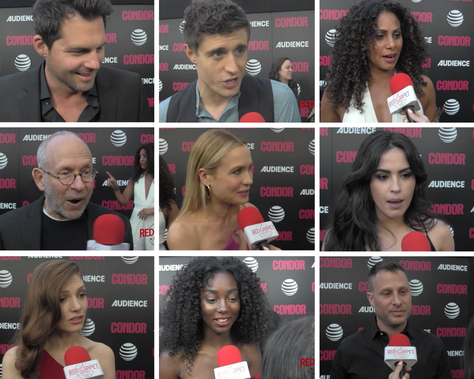 Talking to the cast, creator at premiere of #CondorTV spy