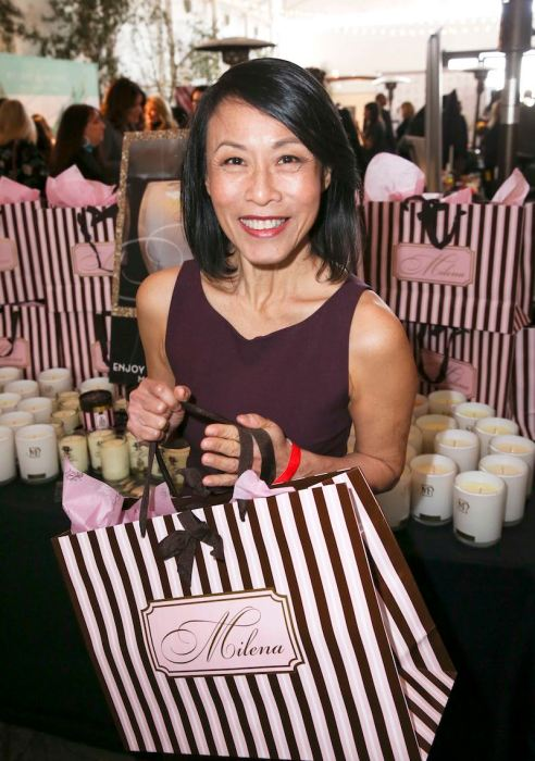 "Kheng Hua Tan (star in Golden Globe Nominee ""Crazy Rich Asians"") was all smiles at Milena's Boutique candles"