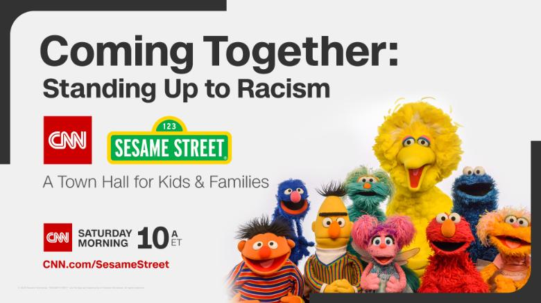 Sesame Street teaches kids about racism during virtual town hall