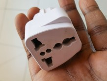 Round hole electricity adaptor in Dakar Senegal