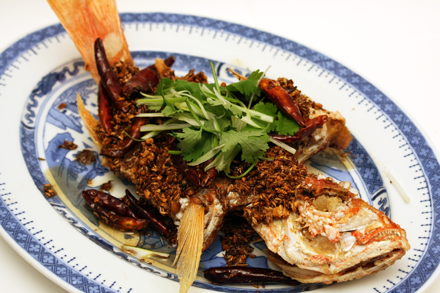 Crisp Fried Red Snapper with Cumin Crumble