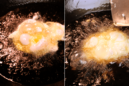 Deep-Frying Eggs
