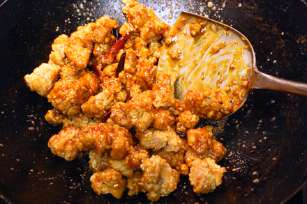 Saucing General Tso's Chicken