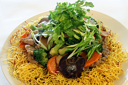 Hong Kong Pan-Fried Noodles with Chicken (港式雞肉炒麵)