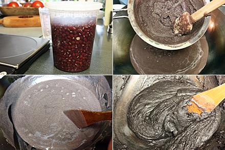 Making sesame paste for mooncake