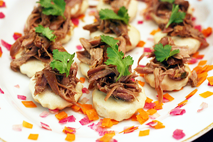 Red-Cooked Duck Canapes