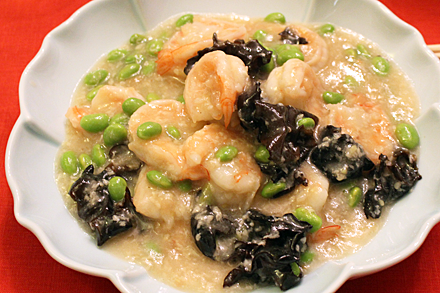 Stir-Fried Shrimp with White Wine Lees
