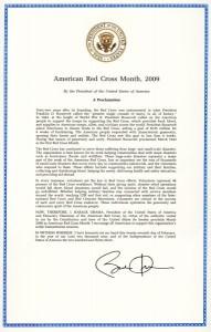President Obama Proclamation, 2009