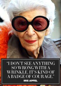 Fashion icon Iris Apfel.
