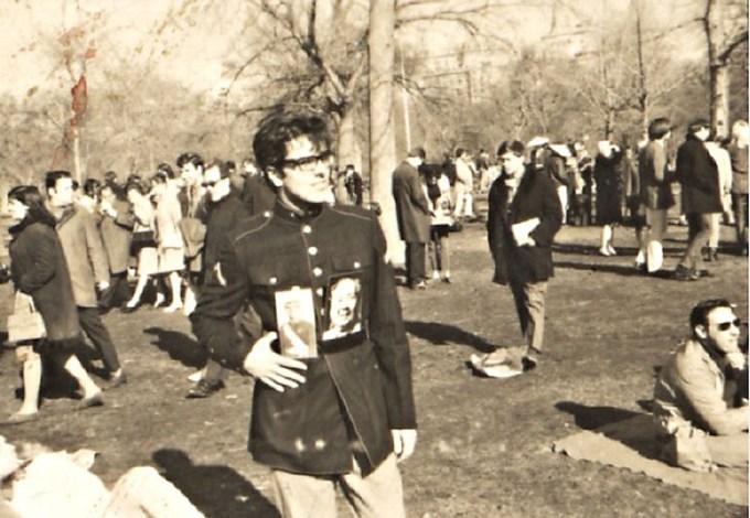 Intervención Mao y Perón, un solo corazón, en el Central Park de Nueva York, 1967.