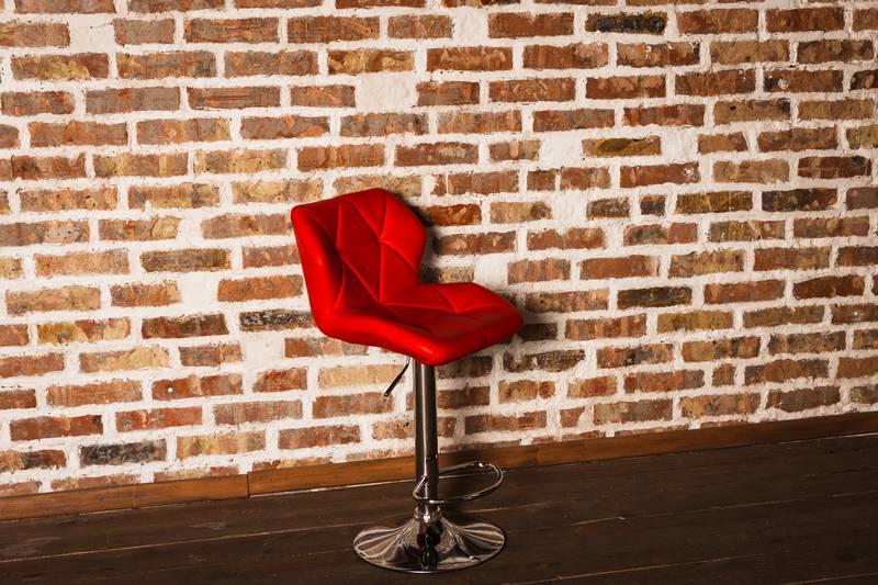 стул красный кожзам