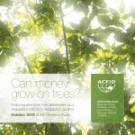 Can money grow on trees? New report from the Australian Council for International Development