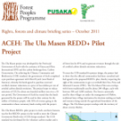 ACEH: The Ulu Masen REDD+ Pilot Project