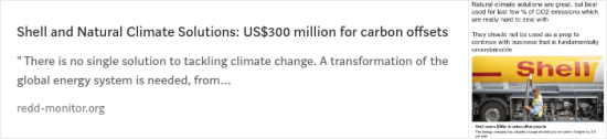 Shell and Natural Climate Solutions: US$300 million for carbon offsets