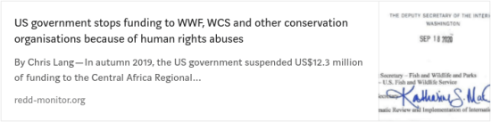 WWF, Human rights