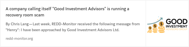 Good Investment Advisors