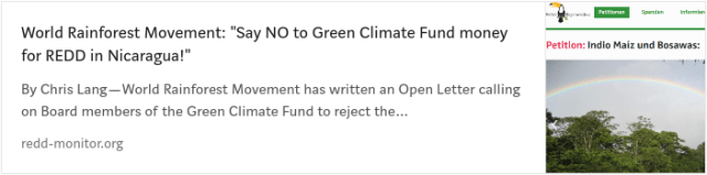 Green Climate Fund's REDD project in Nicaragua