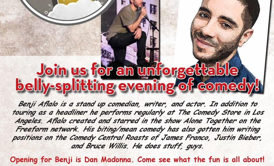 Comedy on Tap Presents Benji Aflalo!