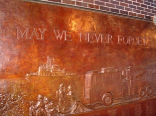 Bronze Plaque of Firefighters Lost in WTC Disaster