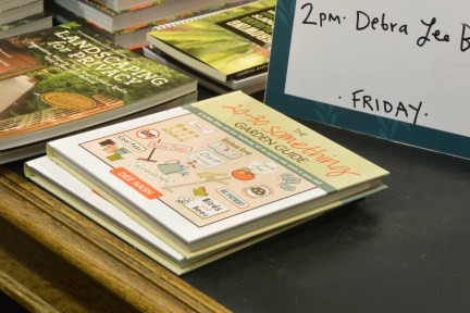 Books on the display table at Northwest Flower and Garden Show