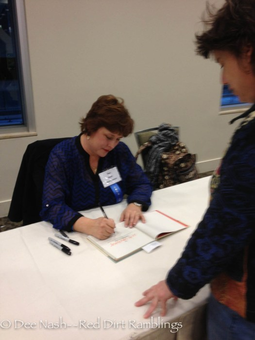 Here I am signing books. What a thrill!