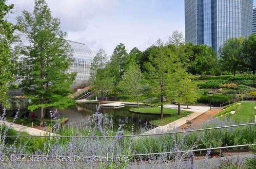 The beautiful Myriad Botanical Gardens in downtown Oklahoma City.