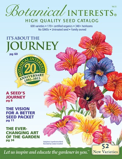 Cover of 2015 Botanical Interests Seed Catalog.