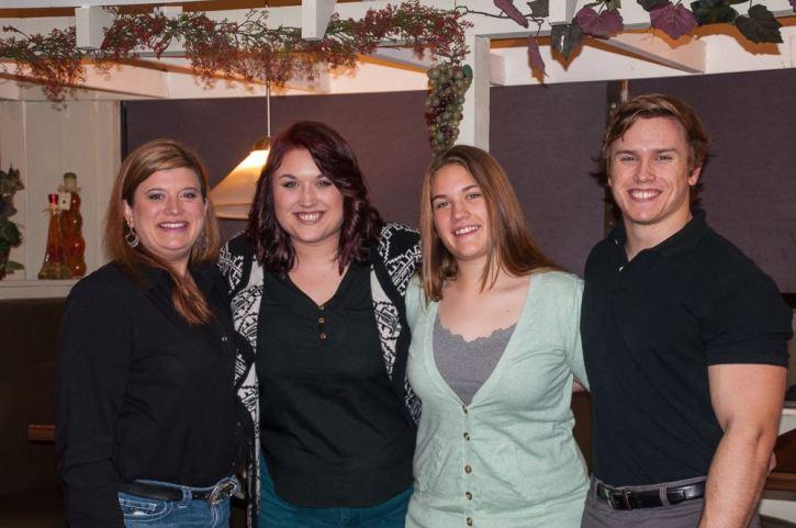 The children, Ashley, Megan, Brennan and Bear.
