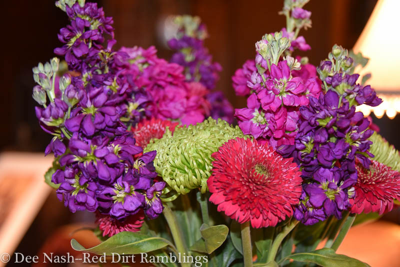 Closeup of the same bouquet.
