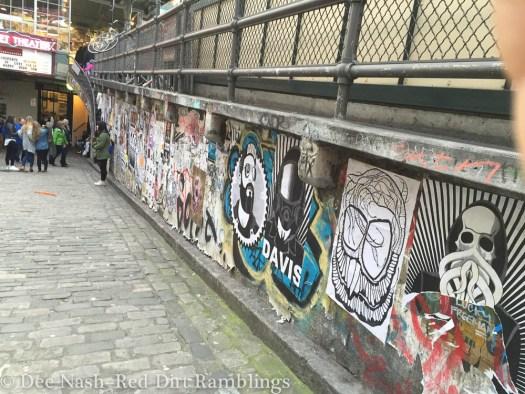 Post Alley wall in Seattle. --Dee Nash
