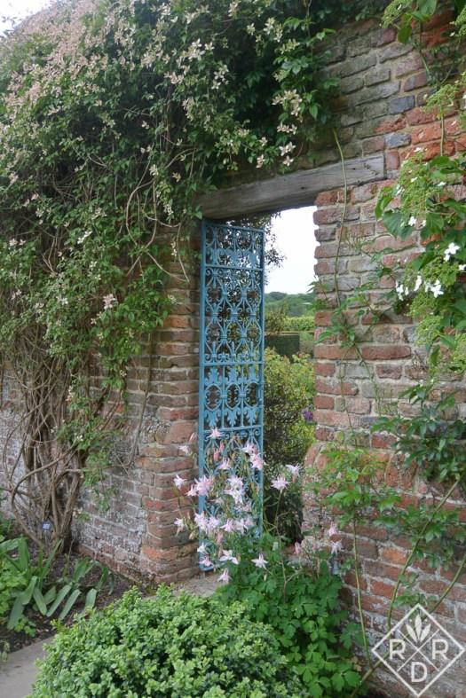 Famous blue gate at Sissinghurst.