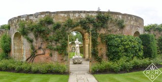 Statue in Hever Castle's Italian Garden.