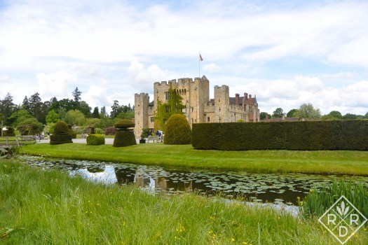 Hever Castle's moat was built for the castle's protection.
