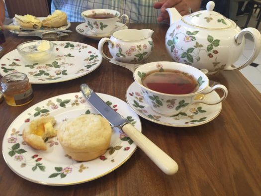 This was actually a cream tea at Harrod's, but it will give you an idea. When you've walked a large garden all day, you need a yummy respite.