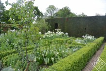 Part of the famous white garden.