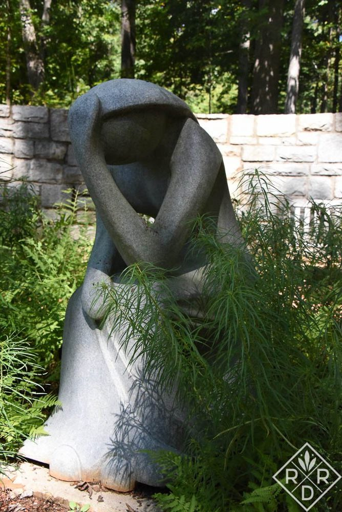 This is how I felt after I listened to some of the talks. I felt like I needed to go meditate. (Statue in the Meditation Garden at the State Botanical Garden in Athens, GA.)