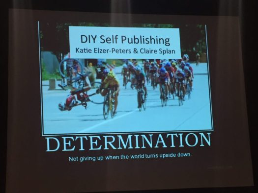 Title slide from talk on self-publishing.
