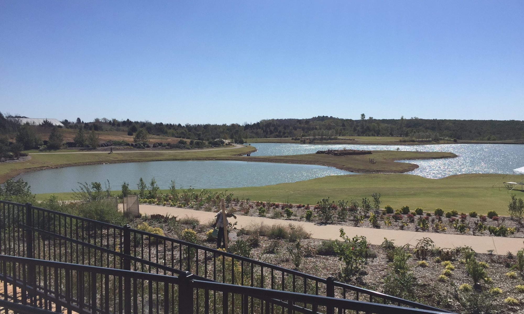 Another view of the ponds at the Tulsa Botanic Garden. These will be surrounded with gardens, and they are also making a lotus lagoon.