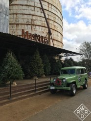 Magnolia Christmas tree lot with an old jeep. Could it be anymore picture perfect?