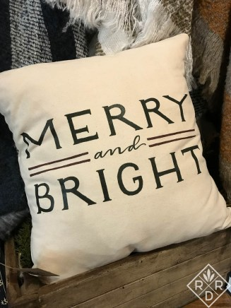Merry and Bright pillow at Magnolia Market.