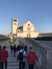 Part of our group walking down to the Basilica of St. Francis. We went on this trip with the good people of Prince of Peace Parish in Altus, OK. We are now such great friends.